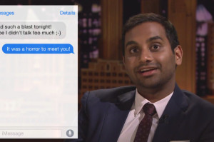 Watch Aziz Ansari Read Awkward Flirty Text Messages