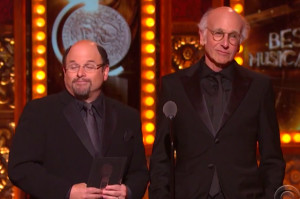 Watch Larry David and Jason Alexander Have a Loser-Off at the Tonys
