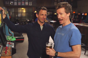 Watch Seth Meyers and His Brother Josh Get Sloshed in Brooklyn