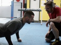 Marc gets an intense workout with CM Punk as his personal trainer.