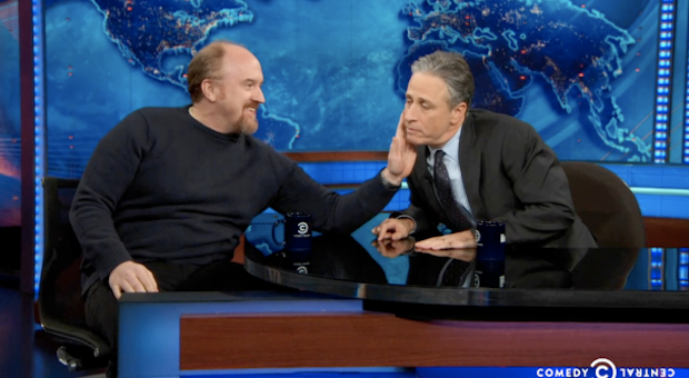 Louis CK and Jon Stewart