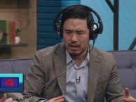 Randall Park attempts to identify song titles from musical selections, with mixed results.