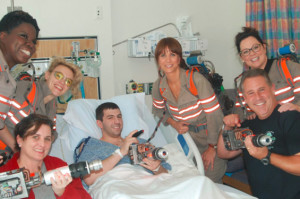The New Ghostbusters Surprised Some Kids at a Children's Hospital