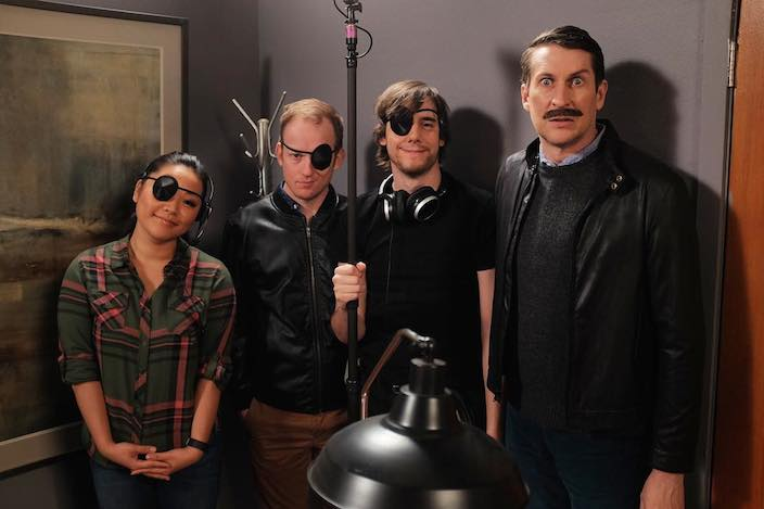 5. Comedy Bang Bang Eyepatch Behind the Scenes
