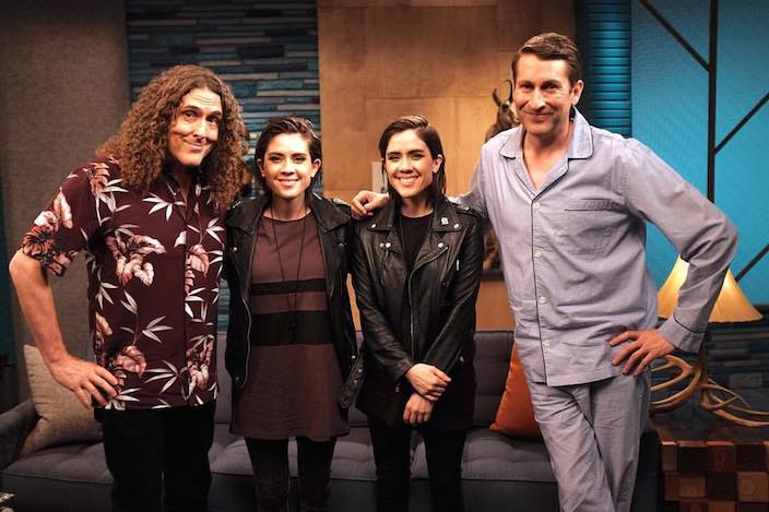 9. Scott Aukerman and Weird Al with Tegan and Sarah