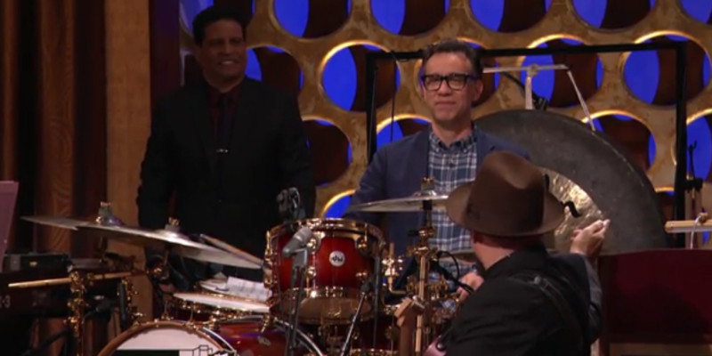 Fred Armisen Drumming Conan