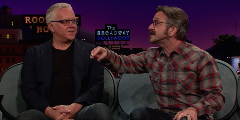 Marc Maron and Tim Robbins on Late Late Show with James Corden
