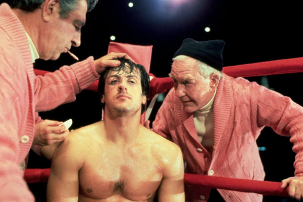 Rocky Stallone boxing ring