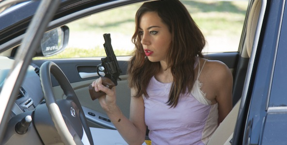Aubrey Plaza as Susan Weber in NED RIFLE, directed by Hal Hartley