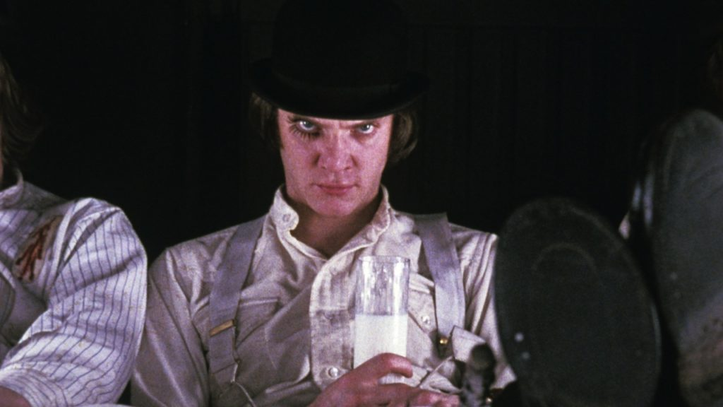 The Academy of Motion Picture Arts and Sciences will celebrate the life and career of filmmaker Stanley Kubrick on Wednesday, November 7, at 7:30 p.m. at the Samuel Goldwyn Theater in Beverly Hills. Pictured: Malcolm McDowell in A CLOCKWORK ORANGE, 1971.