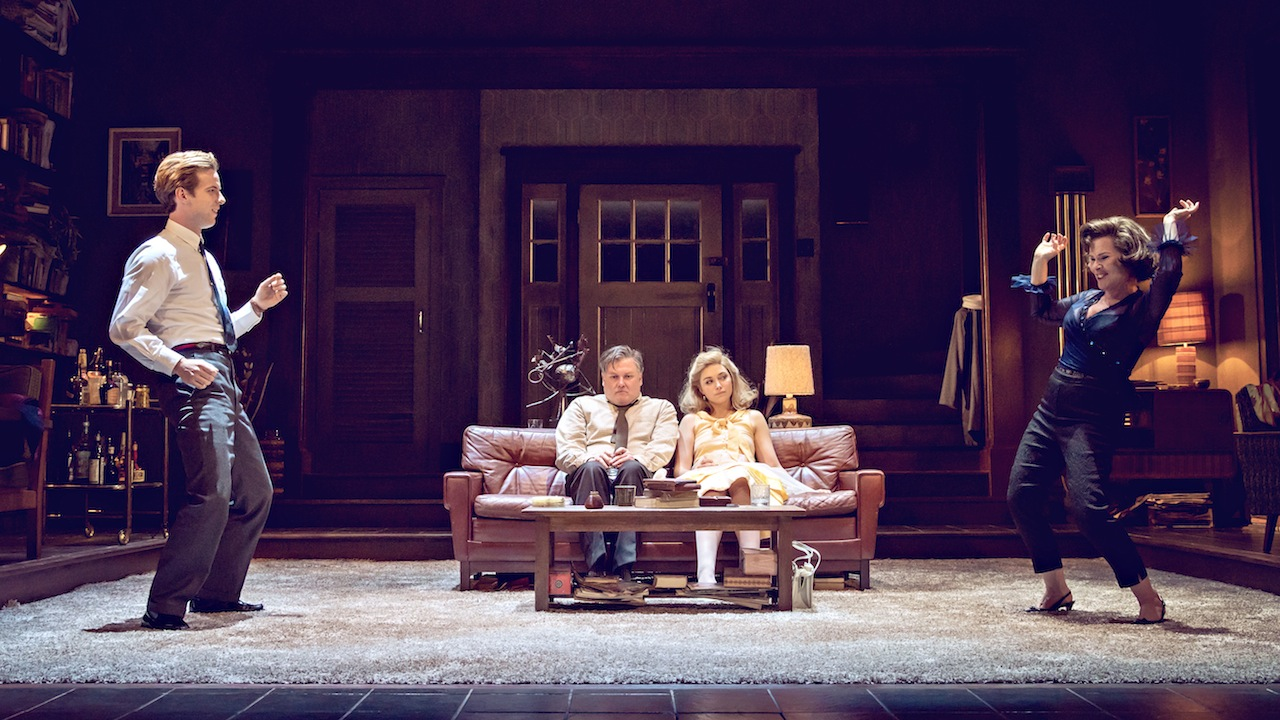 WHO'S AFRAID OF VIRGINIA WOOLF by Albee ;  Directed by James MacDonald ; Designed by Tom Pye ; at the Harold Pinter Theatre, London, UK ; 21 February 2017 ; Credit : Johan Persson /