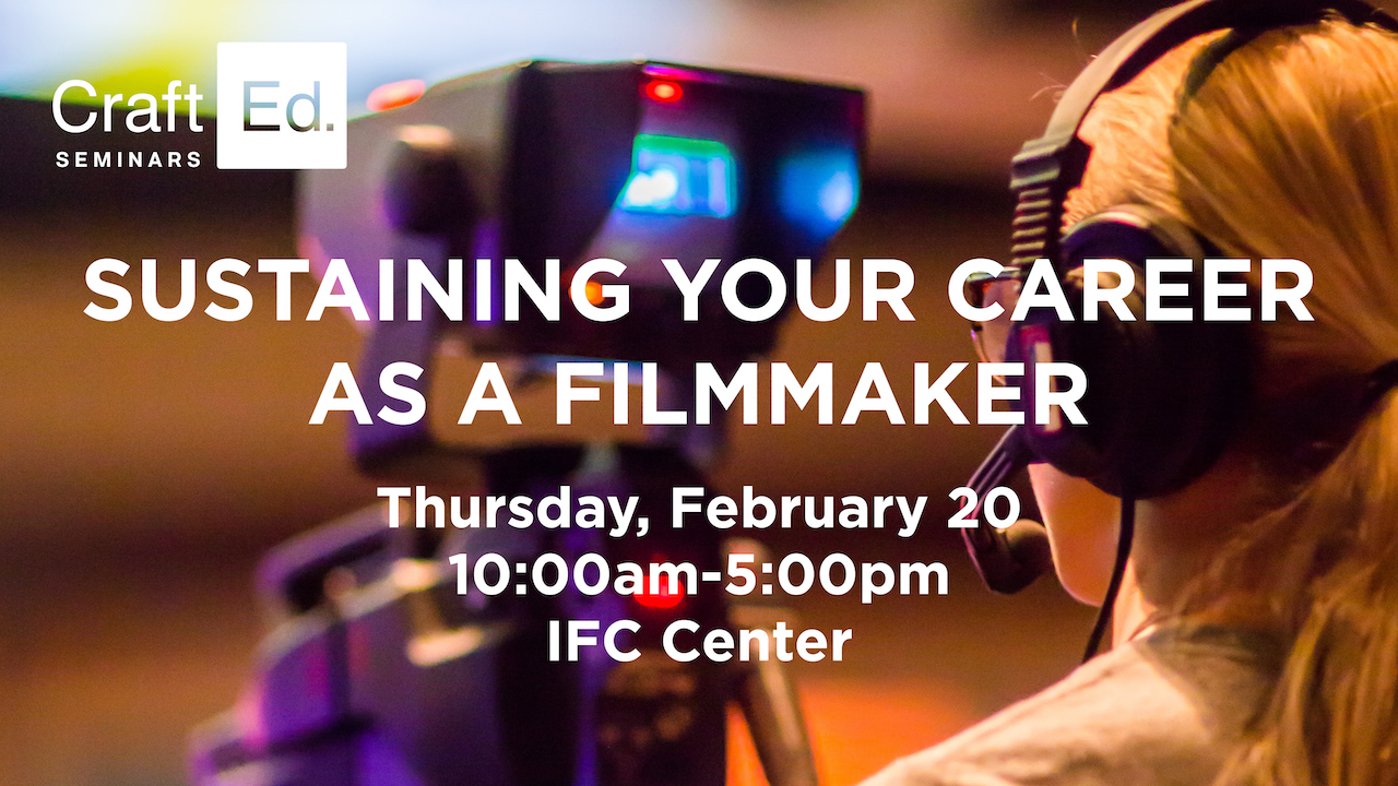 Sustaining your career as a filmmaker 2020