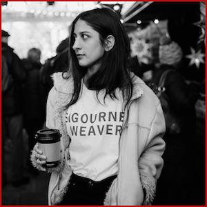 Sigourney Weaver-Black Text