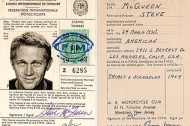 Steve McQueen's motorcycle license