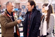 Joe Zee with Paul Rudd and Zooey Deschanel