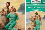 Recreated covers of romance novels