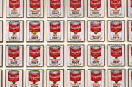 Why did Warhol paint Campbell soup cans?