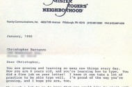 Mister Rogers' letter to 6-year-old Christopher Barranco