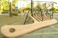 Giant comb bike rack