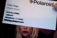 Lady Gaga, creative director at Polaroid