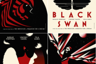 Who designed the posters for BLACK SWAN?