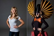 Cirque du Soleil performers: before-and-after