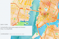 Let your tweets paint a watercolor version of your city