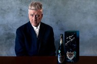 David Lynch is having a champagne moment