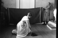 How to pick up a shoe: Vintage photos of 'correct' postures for household chores