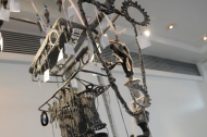 Artist Amy Twigger Holroyd made an entire BMW engine out of yarn