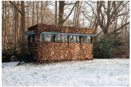 A log cabin on wheels