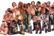 Patrick Krzyzanowski's wrestling paintings