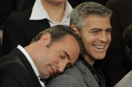 We love: Actor Jean Dujardin sleeping on people