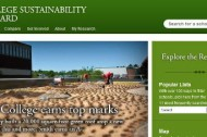 College Sustainability Report Card: Who made the grade?