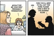 Doonesbury's controversial pro-choice strip