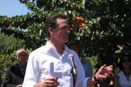 Mayor Gavin Newsom announces sustainable, regional food policies