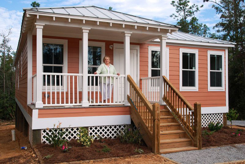 Katrina Cottages Reused As Permanent Residential And