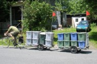 Pedal-powered recycling pick-up… and more