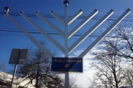 Woodstock Jews mark Hanukkah with solar-powered menorah
