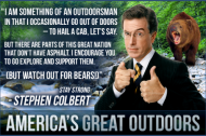 Stephen Colbert: environmental activist