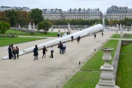 Art Buzz: Cow tongue sculptures and an alien obelisk in the Tuileries gardens
