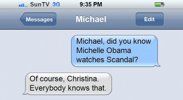 "Michael Showalter Discovers Michelle Obama's ""Scandal"" Addiction"