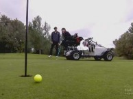 Recently back form Mexico, Auti is lookng to spend some time on the green with Eric.