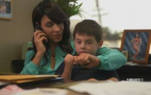 With Robert away on business, Loredana has no choice but to bring Rocco into the office.