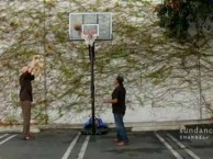 Kareem Abdul-Jabbar  and Chuck D hit the court to shoot some hoops.
