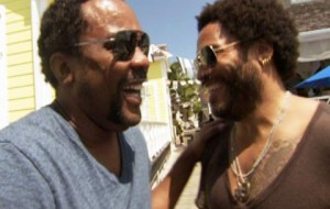 Funk maestro Lenny Kravitz and Academy Award nominee Lee Daniels rendezvous in the Bahamas for a fishing excursion.
