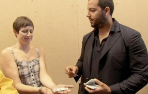 David Blaine demonstrates a spooky illusion with playing cards.