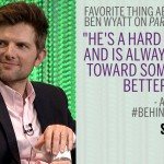 Adam Scott Behind the Story Parks and Recreation meme