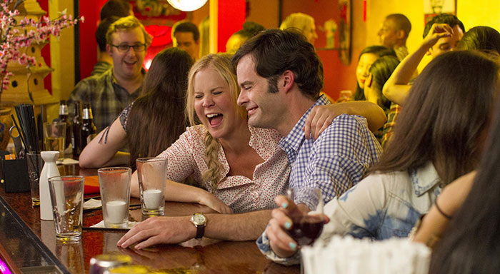 Amy Schumer and Bill Hader in Trainwreck 700