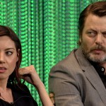 Aubrey Plaza Nick Offerman Behind the Story Parks and Recreation